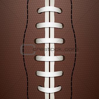 American Football Closeup Background Illustration