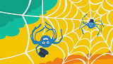 Character spider and cobweb