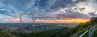City of Nitra from Above at Sunset