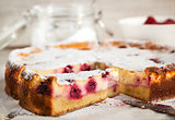 Homemade cherry creamcheese pie