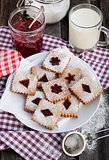 Homemade Linzer cutout cookies