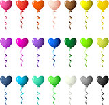 Colored Heart Balloons