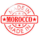 Made in Morocco red seal