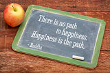 Buddha quote on happiness