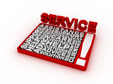 Service concept words