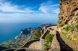 Observation point at La Gomera mountains