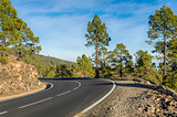 Mountain roads at Tenerife, Spain