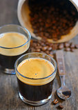 Espresso and Roasted  coffee beans