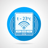 Heating remote controller vector icon