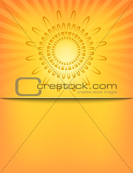 Abstract Sun Sunburst Pattern template