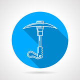 Climbing ice axe round vector icon