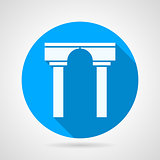 Flat vector icon for arch with column