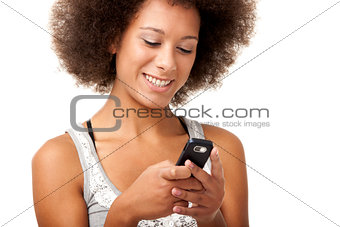 Beautiful woman at cellphone