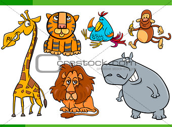 animals cartoon characters set