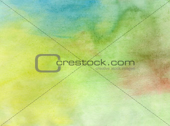 Abstract watercolor light painted background