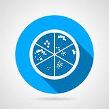 Petri dish round vector icon