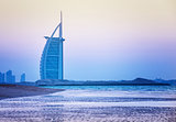 Burj Al Arab hotel on Jumeirah beach in Dubai