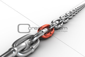 Chrome chain with a cooper link