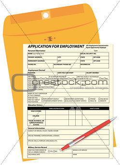 Application form and mail envelope
