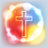 Glowing Cross Illustration