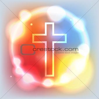 Glowing Cross Illustration