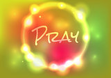Pray Abstract Glow Illustration