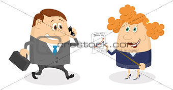Businessman and Secretary