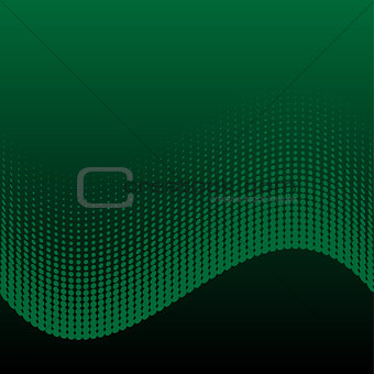 Abstract halftone green and black background