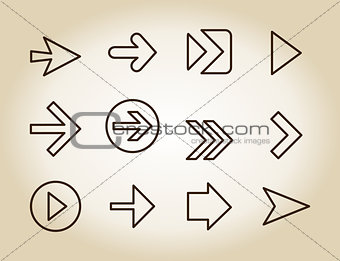 Arrow outline icon