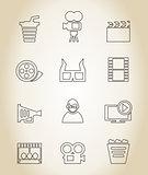 Movie outline icon