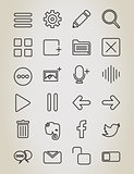 Web outline icon