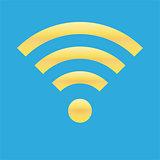 Wifi icon blue yellow color