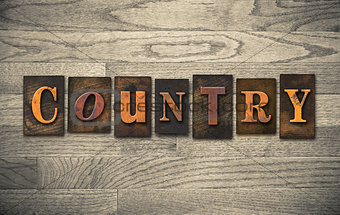 Country Wooden Letterpress Concept
