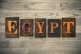 Egypt Wooden Letterpress Concept