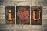 I Heart You Wooden Letterpress Concept