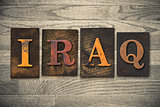 Iraq Wooden Letterpress Concept