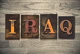 Iraq Wooden Letterpress Concept