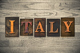 Italy Wooden Letterpress Concept