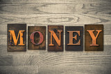 Money Wooden Letterpress Concept
