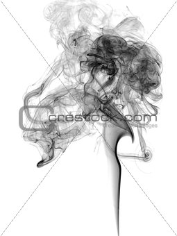 Abstract dark smoke
