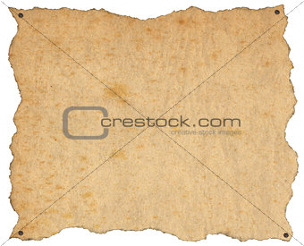Old Brown Paper with Nails