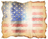 USA Weathered Flag
