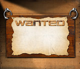 Wanted Signboard on Wooden Wall