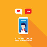 Social network Communication Successful business and e-commerce concept Modern flat design