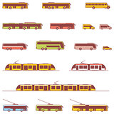 Vector public transport icons