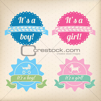 Baby badges for girls and boys
