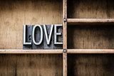 Love Letterpress Type in Drawer