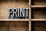 Print Letterpress Type in Drawer