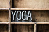 Yoga Letterpress Type in Drawer