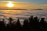 sunset in the inversion